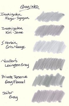 six gray inks