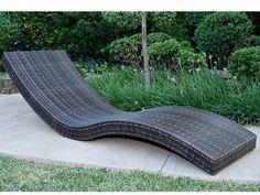 camastro tejido en rattan sintetico modelo Palma beach bed pool bed