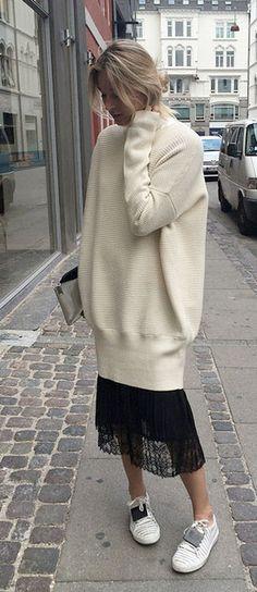 sweatshirts and lace