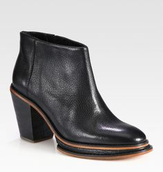 Twotone Leather Ankle Boots - Lyst