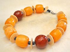 """BIG African Trade """"Amber"""" Necklace"""