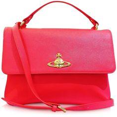 Vivienne Westwood Divina Coral Eco-Leather Crossbody Bag on shopstyle.com.au