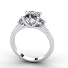 moissanite princess cut engagement ring, style 135WM visit www.fabiandiamonds.com for more rings and styles