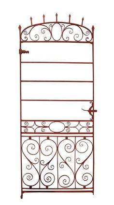 TALL AND ELEGANT 19TH CENTURY WROUGHT IRON SIDE GATE - UK Architectural Heritage