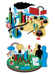 """""""Sustainability"""" Illustration for Zeit Verlag. Human Empire did these two illustrations with the themes """"Future"""" and """"Research"""" for the Hamburg based publisher Zeit Verlag."""