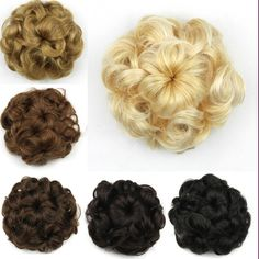 Hair Bun Clip In Hair Pieces Chignon Synthetic Hairpieces Bun Extension Donut Roller Hairpieces Postiche Chignon Bun #clothing,#shoes,#jewelry,#women,#men,#hats,#watches,#belts,#fashion,#style