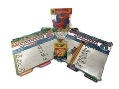 Learn Printing & Cursive Writing Bundle - 7 Items: Learn Printing & Learn Cursive Book with Dry Erase Marker Each, Manuscript Practice Table of Paper, 24ct. Pack of Crayola Crayons, 1 Hi-polymer Eraser By Pentel, Two No. 2 Pencils By Focus, 132ct. Package of Foam Reward Stickers Mixed http://www.amazon.com/dp/B00U8AV5YC/ref=cm_sw_r_pi_dp_ZKmDvb1H9ECW0