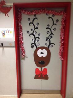 No l d coration de porte noel cole pinterest for Decoration porte noel ecole