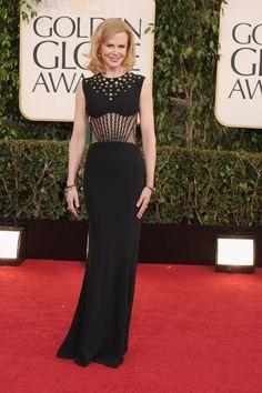 Nicole Kidman in Alexander McQueen on the Golden Globes 2013 red carpet.