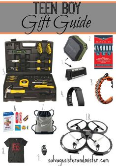Hard to find gifts for the teen boys in your life.  We have two boys and have a great list from stocking stuffers to small and large gifts.   There is more to boy gifts than video games and gift cards.  Find some wonderful boy gift ideas.  Guy gift ideas.