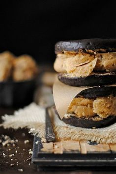 Chocolate Doughnut, Nutella & Coffee Ice Cream Sandwiches
