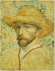 Vincent van Gogh's Self-Portrait with Straw Hat Painting