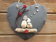 Handmade Bespoke Pebble Slate Art Picture couples family love anniversay present Slate Art, Slate Rock, Tile Crafts, Family Love, Hanging Wall Art, Pebble Art, Handmade Art, Art Pictures, Presents
