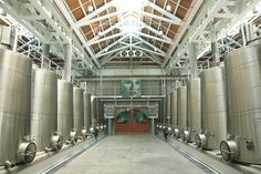 The Winery Floor at Cliff Lede Vineyards, Yountville, CA