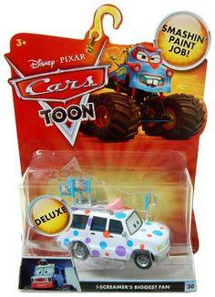(FOR EM) Amazon.com: Disney / Pixar CARS TOON 155 Die Cast Car Oversized Vehicle IScreamers Biggest Fan: Toys & Games