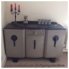 French Linen Art Deco Sideboard Dresser Hand Painted Shabby Vintage Chic | Doncaster, South Yorkshire | Gumtree