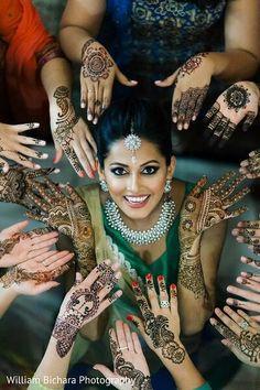 Indian Bride at Mehndi Night photography Mehendi Photography, Indian Wedding Photography Poses, Indian Wedding Photos, Bride Photography, Indian Wedding Henna, Photography Ideas, Indian Bride Poses, Bridal Mehndi, Indian Weddings