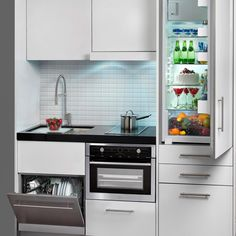 compact kitchen units that go even smaller than small acme rh pinterest com