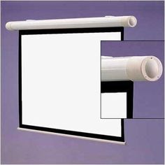 """Matte White Salara / Series M Manual Screen - 67"""" diagonal 16:10 Ratio Format by Draper Inc. $338.99. 137112 Features: -Mounts flush to the wall or ceiling with floating brackets on the back of the case.-NTSC, HDTV and WideScreen format have image area framed with black on all four sides.-Spring-roller operated.-Warranted for one year against defects in materials and workmanship. Includes: -Includes pull cord."""