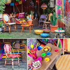 Tuintrend Mexicaanse Fiësta Deze outdoor trend is geïnspireerd op de vrolijke, bonte en folkloristische cultuur uit Mexico. Kenmerken hiervan zien we terug in de hipste trends op het gebied van mode en design maar ook voor buiten op het terras of balkon.
