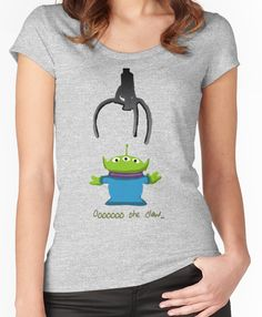 f3ba81187d0 Toy Story Alien Claw Women s Fitted Scoop T-Shirt Toy Story Alien