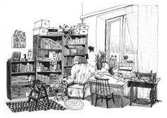 Home Viides linja C Illustrator, Pencil, Ink, Architecture, Pictures, Painting, Instagram, Arquitetura, Photos