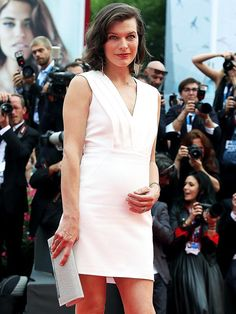 Milla Jovovich Debuts Her Baby Belly