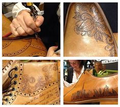 Tattoo your shoe | Oliver Sweeney is one of the leading british designers and since the company was established in 1989 has created some classic as well as creative shoes, accessories and outerwear. Their leather shoes are stunning and even without a tattoo are a pretty special treat.