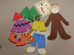 """The Jacket I Wear in the Snow"" activity- Kids learn/practice how to get dressed for winter weather!"