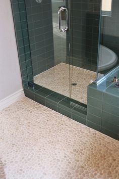 Polished White Bathroom Floor