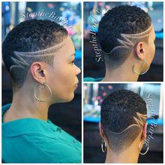 I love short hair Natural Hair Short Cuts, Short Natural Haircuts, Tapered Natural Hair, Short Hair Cuts, Natural Hair Styles, Short Hair Designs, Shaved Hair Designs, Short Shaved Hairstyles, Side Hairstyles