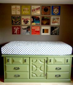 DIY Storage Beds to Add Extra Space and Organization to Your Home ===  Green-Storage-Bed-Made-Out-