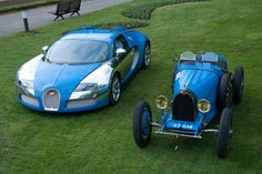 Bugatti now and then.