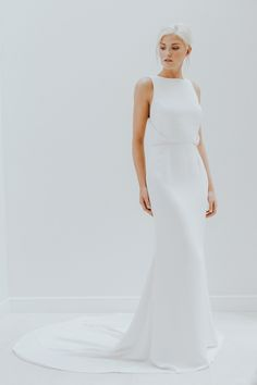 Modern simple wedding dress by Charlotte Simpson