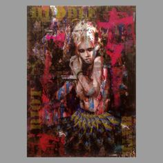 TrxtrArchival pigment edition on deep frame canvasSigned and numbered.Edition of canvas hand embellished with marker pen and spray paint Marker Pen, Limited Edition Prints, The Darkest, Statue, Canvas, Gallery, Painting, Image, Deep