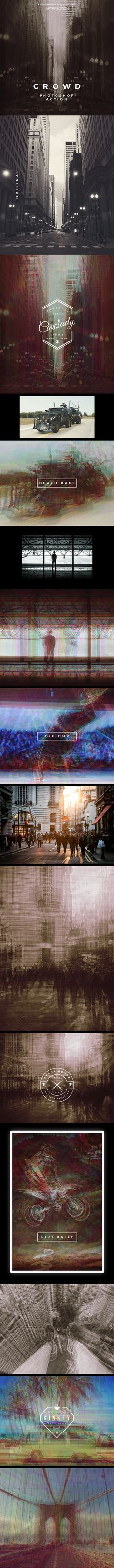 Crowd Action — Photoshop ATN #action #photo • Download ➝ https://graphicriver.net/item/crowd-photoshop-action/19606801?ref=pxcr