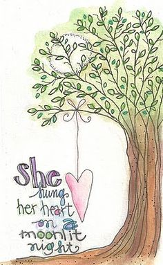 she hung her heart by lindsay ostrom...love her art!