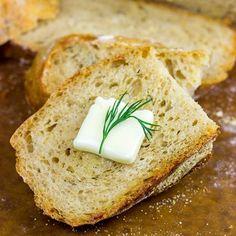 No-Knead Cheddar Dill Beer Bread