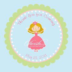 Princess birthday invitation and favor tag  5x7 by SwishDesigns, $18.00