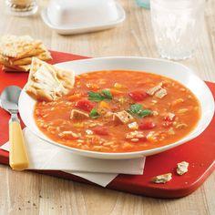 Soupe «grand-mère» dinde et riz - Les recettes de Caty Soup Recipes, Healthy Recipes, Healthy Food, Canadian Food, Canadian Recipes, Soups And Stews, Thai Red Curry, Crockpot, Lunch Box