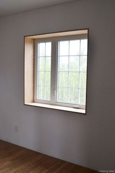 Framed Windows Window Trim Ideas Interior Pictures Exterior Tagged at simplechurch. Window Jamb, Window Casing, Window Ledge, Wood Window Sill, Wooden Window Frames, Modern Windows, Wood Windows, House Windows, Classic Room