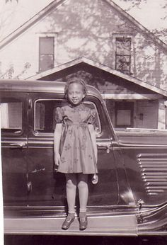 IL' GIRL, BIG CAR | 1930s Source: Old Photographs of African Americans Unknownn Faces (OPOAA), submitted by Constance Couch. The Way We Were, Vintage African American Vernacular Photography by Black History Album (blackhistoryalbum.com)