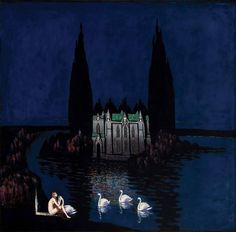 "pankurios-templeovarts: "" Bolesław Biegas maybe best known for his ""vampire-femme fatale"" paintings. Melencolia I, Art Nouveau, Pop Art Illustration, Illustrations, Picture Boxes, Yellow Art, Fantastic Art, Photo Art, Art Drawings"