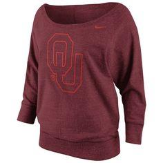 Nike Oklahoma Sooners Sweatshirt - Women's ($70) found on Polyvore