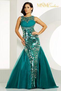 Charbel Nader for MNM Couture 2011 Evening dress 6414 - NetFashionAvenue.com
