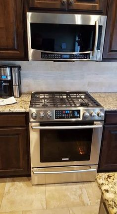 Electrolux range and microwave
