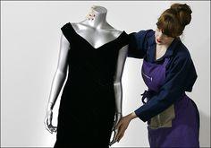 Princess Diana blue velvet Victor Edelstein dress
