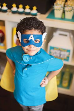 {SUPER Hero} Party Ideas - you could adapt this for a SUPER WHY party too!