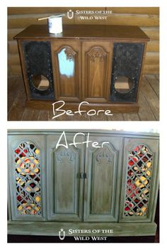Sisters of the Wild West: Hello Chalk Paint...I Think I LOVE You!!! Stereo Cabinet Redo