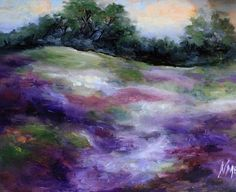 End of Bloom Texas Landscape, painting by artist Nancy Medina